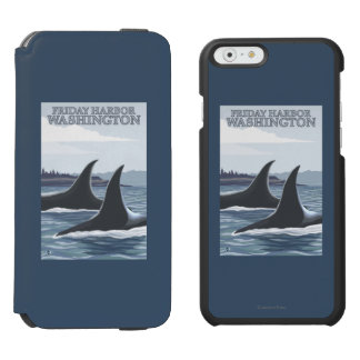 Orca Whales #1 - Friday Harbor, Washington iPhone 6/6s Wallet Case