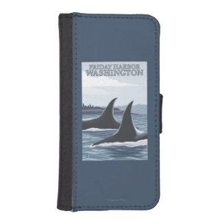 Orca Whales #1 - Friday Harbor, Washington iPhone SE/5/5s Wallet Case