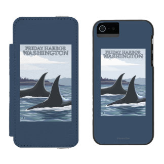 Orca Whales #1 - Friday Harbor, Washington Wallet Case For iPhone SE/5/5s