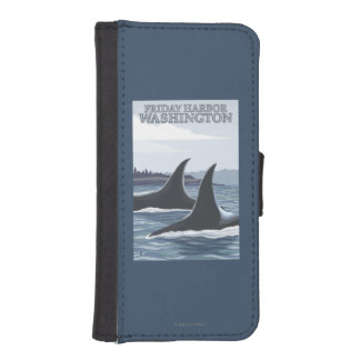 Orca Whales #1 - Friday Harbor, Washington Wallet Phone Case For iPhone SE/5/5s