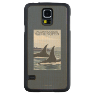 Orca Whales #1 - Friday Harbor, Washington Carved® Maple Galaxy S5 Slim Case
