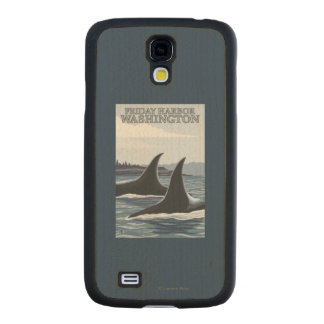 Orca Whales #1 - Friday Harbor, Washington Carved® Maple Galaxy S4 Case