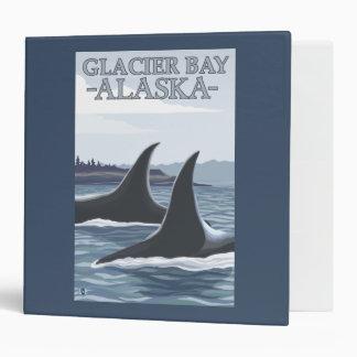 Orca Whales #1 - Glacier Bay, Alaska 3 Ring Binder
