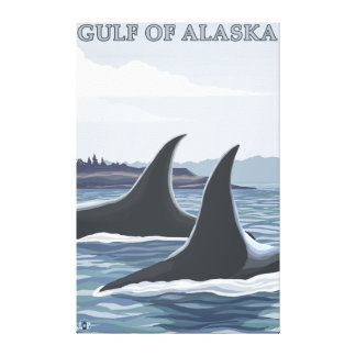 Orca Whales #1 - Gulf of Alaska Canvas Print