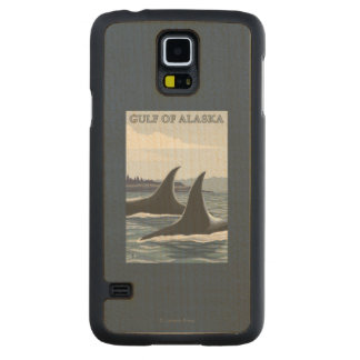 Orca Whales #1 - Gulf of Alaska Carved Maple Galaxy S5 Case