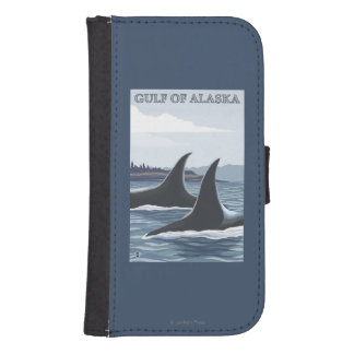 Orca Whales #1 - Gulf of Alaska Phone Wallet Case