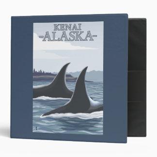 Orca Whales #1 - Kenai, Alaska 3 Ring Binder