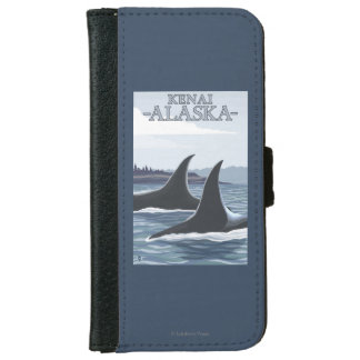 Orca Whales #1 - Kenai, Alaska Wallet Phone Case For iPhone 6/6s