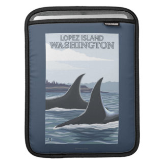 Orca Whales #1 - Lopez, Washington Sleeves For iPads