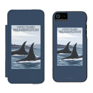 Orca Whales #1 - Lopez, Washington iPhone SE/5/5s Wallet Case