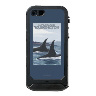Orca Whales #1 - Lopez, Washington Waterproof Case For iPhone SE/5/5s
