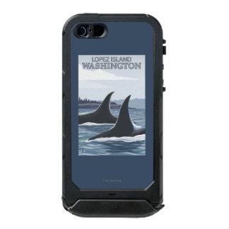 Orca Whales #1 - Lopez, Washington Waterproof iPhone SE/5/5s Case