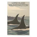 Orca Whales #1 - Lopez, Washington Wood Prints