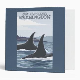 Orca Whales #1 - Orcas Island, Washington Binder