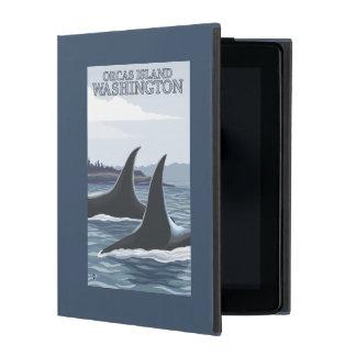 Orca Whales #1 - Orcas Island, Washington iPad Case