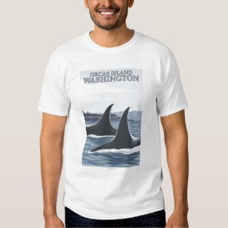 Orca Whales #1 - Orcas Island, Washington T Shirt
