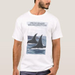 Orca Whales #1 - Orcas Island, Washington T-Shirt