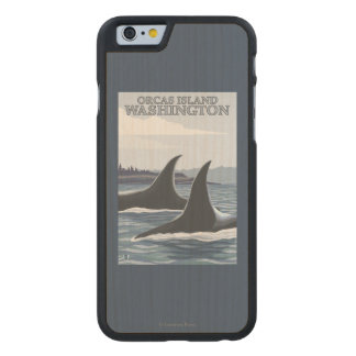 Orca Whales #1 - Orcas Island, Washington Carved® Maple iPhone 6 Case