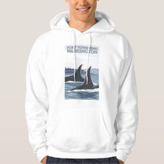 Orca Whales #1 - Port Townsend, Washington Hoodie
