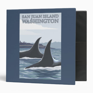 Orca Whales #1 - San Juan Island, Washington 3 Ring Binder