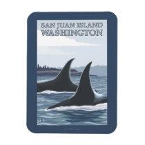 Orca Whales #1 - San Juan Island, Washington Magnet