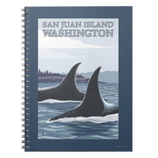 Orca Whales #1 - San Juan Island, Washington Spiral Notebooks