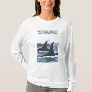 Orca Whales #1 - San Juan Island, Washington T-Shirt