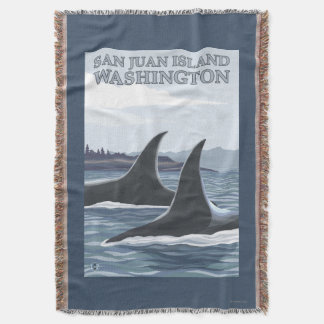 Orca Whales #1 - San Juan Island, Washington Throw