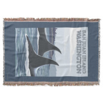 Orca Whales #1 - San Juan Island, Washington Throw