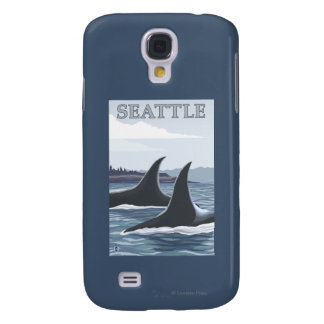 Orca Whales #1 - Seattle, Washington Samsung Galaxy S4 Covers