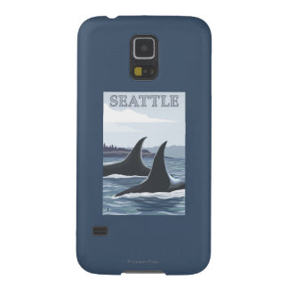 Orca Whales #1 - Seattle, Washington Case For Galaxy S5