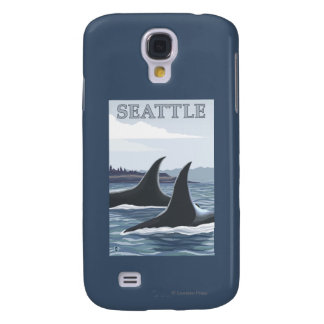 Orca Whales #1 - Seattle, Washington Galaxy S4 Case