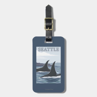 Orca Whales #1 - Seattle, Washington Luggage Tag