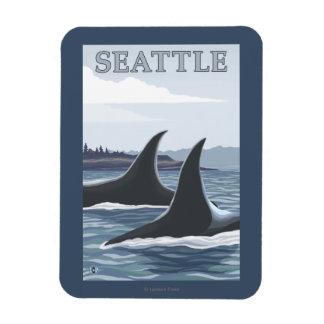 Orca Whales #1 - Seattle, Washington Magnet