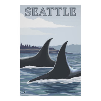 Orca Whales #1 - Seattle, Washington Posters