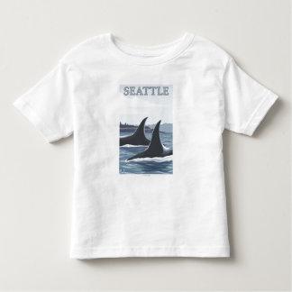 Orca Whales #1 - Seattle, Washington Toddler T-shirt