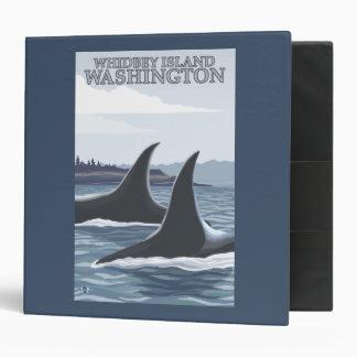 Orca Whales #1 - Whidbey, Washington Binder