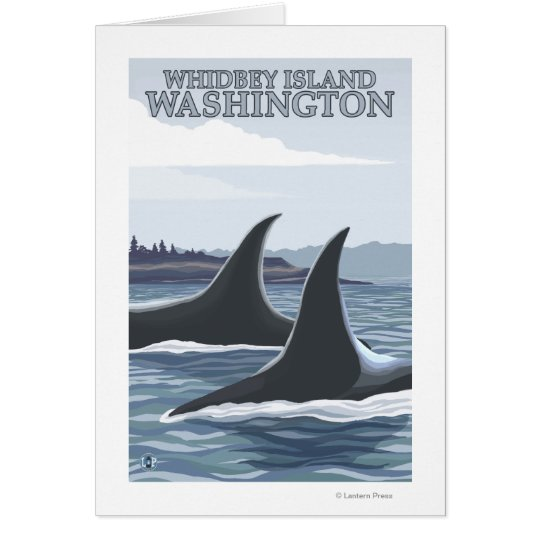 Orca Whales #1 - Whidbey, Washington Card
