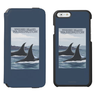 Orca Whales #1 - Whidbey, Washington iPhone 6/6s Wallet Case
