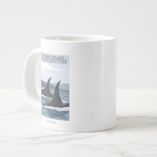 Orca Whales #1 - Whidbey, Washington Large Coffee Mug