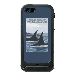 Orca Whales #1 - Whidbey, Washington Waterproof Case For iPhone SE/5/5s