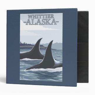 Orca Whales #1 - Whittier, Alaska 3 Ring Binder