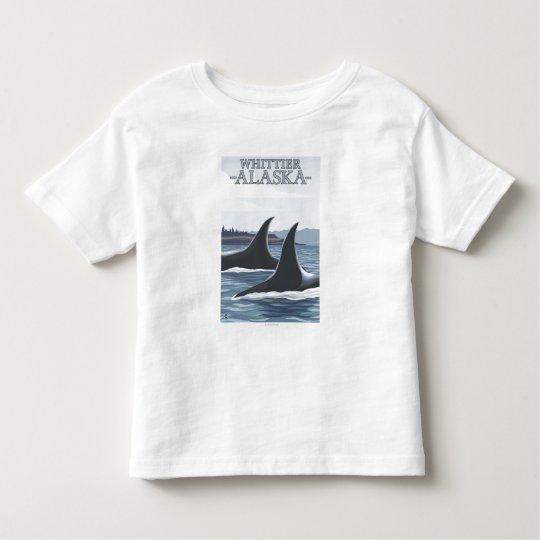 Orca Whales #1 - Whittier, Alaska Toddler T-shirt