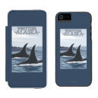 Orca Whales #1 - Whittier, Alaska Wallet Case For iPhone SE/5/5s