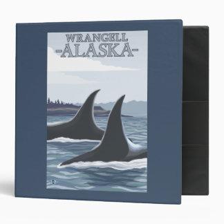 Orca Whales #1 - Wrangell, Alaska 3 Ring Binder
