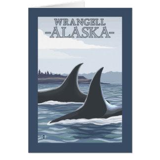 Orca Whales #1 - Wrangell, Alaska Card