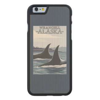 Orca Whales #1 - Wrangell, Alaska Carved® Maple iPhone 6 Case