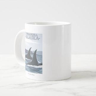 Orca Whales #1 - Wrangell, Alaska Jumbo Mug