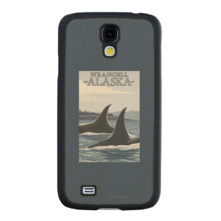 Orca Whales #1 - Wrangell, Alaska Carved® Maple Galaxy S4 Case