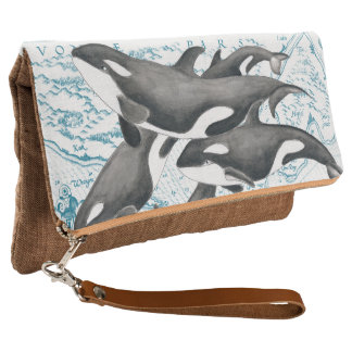 Orca whales family ancient blue clutch